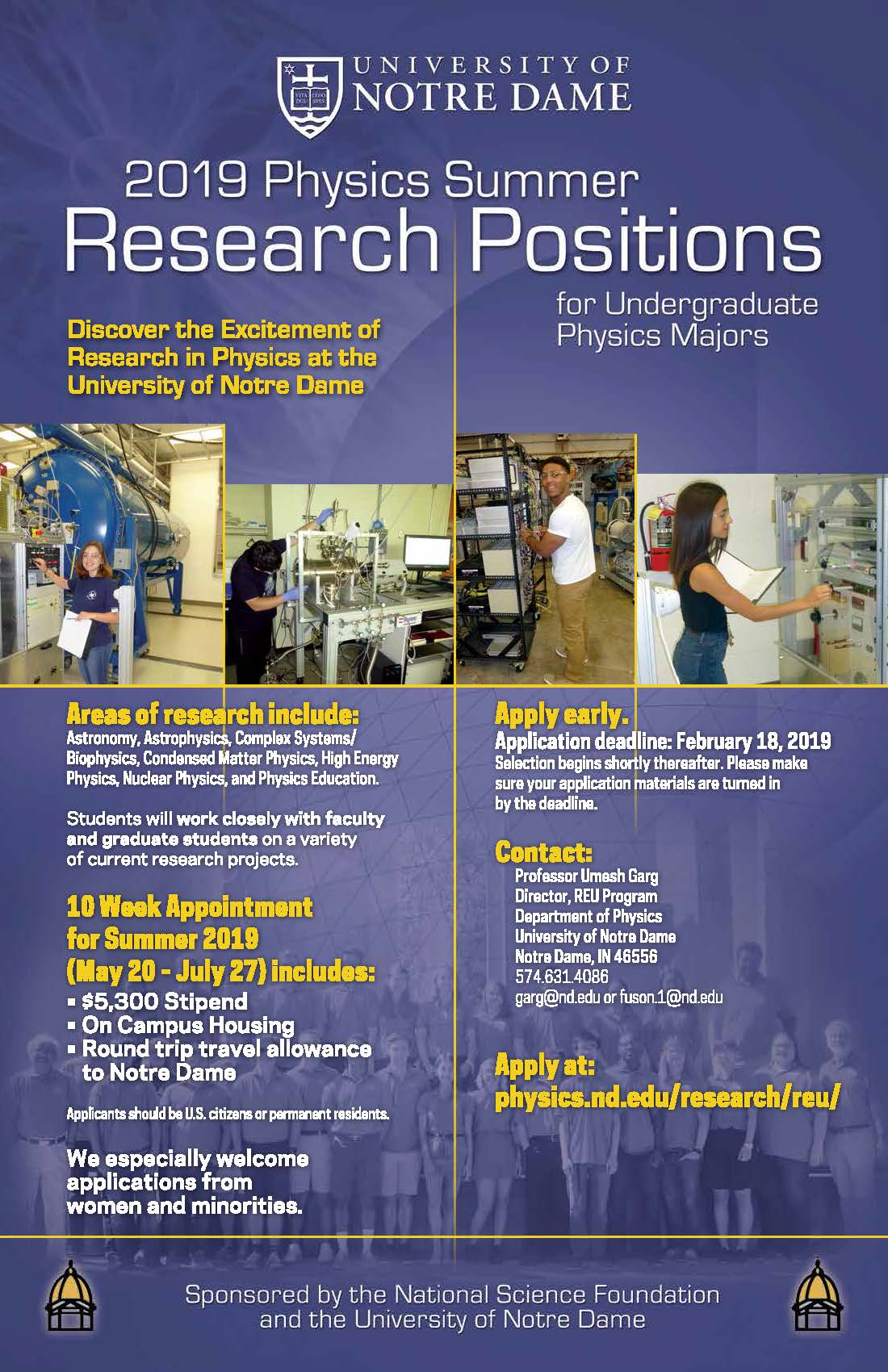 REU - Research Experience for Undergraduates // Department of