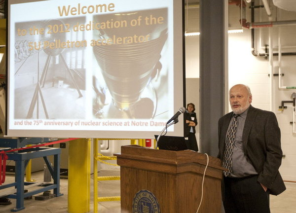 Nuclear Accelerator Dedication - November 1, 2012